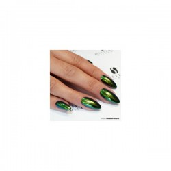Polaris efect gold -green uñas